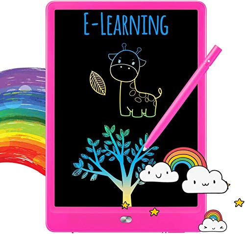 TEKFUN Kids Toys Toddlers Toys for Boys and Girls, 8.5in LCD Writing Tablets Drawing Pad for Kids, Light Doodle Pad Drawing Board for Toddlers, Gifts Toys for 3 4 5 6 7 Year Old Girls Boys(Rose)