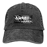 Photo de VTIUA Casquette de Baseball Sport Casquette Snapback Jeans Hat Armin Van Buuren Lightweight Breathable Soft Baseball Cap Sports Cap Adult Trucker Hat Mesh Cap
