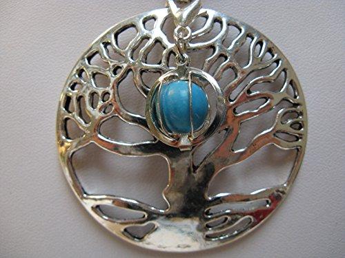 Natural mente – Pendentif Arbre de Vie, la pierre + 1 Chakra, pendentif pour collier, amulette, arbre de vie, bande plastique incluse, pierres précieuses, n ° 178
