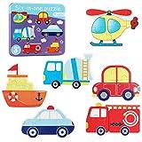 Puzzles de Madera Infantiles Juguetes Niños 3 Años Educativos Herramientas Divertidos(Tráfico)