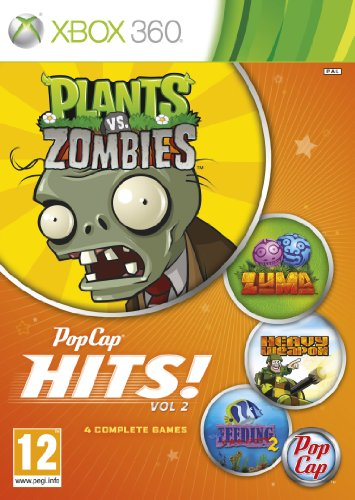 [UK-Import]Pop Cap Hits Volume 2 (Plants vs Zombies / Zuma / Feeding Fenzy 2 and Heavy Weapons) Game XBOX 360