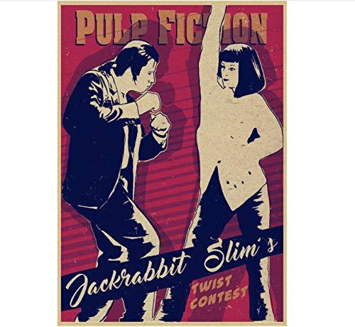 YOUCAIHUA Pulp Fiction Quentin Tarantino Vintage Poster Wandaufkleber für Wohnzimmer Home Decoration 42 * 30CM