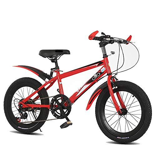 YUMEIGE Kinderfiets 18 inch fiets meisjes 6 versnellingen fiets frame van carbon hoogte 2-15 jaar met zwart, blauw, rood verkrijgbaar