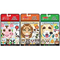 3-Piece Melissa & Doug Make-A-Face Reusable Sticker Pad Bundle