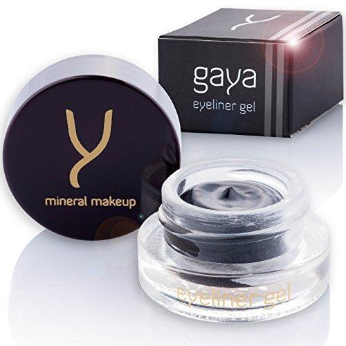 Gaya Cosmetics Eyeliner Eye Liner EY1 Noir pour les Yeux Maquillage pour Femmes Vegan - Trait Precis Longue Tenue. Sans Bavures ni Transfert