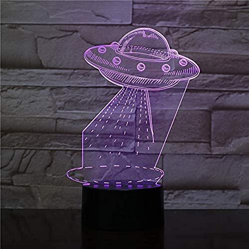 3D Lámpara de Lámpara de luz nocturna Alien Wonder decoración del hogar y para codormir Con interfaz USB, cambio de color colorido