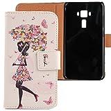 Lankashi Housse Case Cuir Cover Flip Etui Coque Protection Skin Pour Asus Zenfone 3 ZE552KL 5.5'...