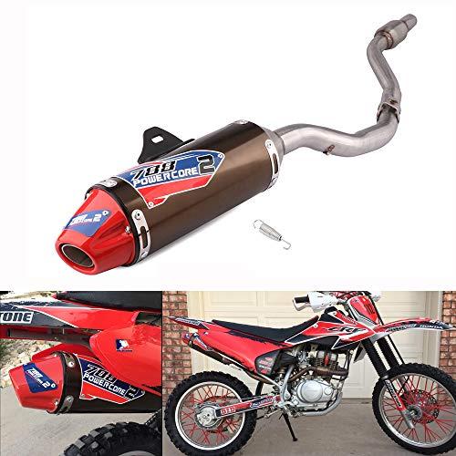 JFG RACING Motorrad Rutschfest auf Auspuff Schalldämpfer Rohr Komplette System für Honda CRF150F CRF230F 2003–2013Motocross