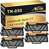 Arcon Compatible Toner Cartridge Replacement for Brother TN850 TN-850 TN 850 TN820 Brother HL-L6200DW MFC-L5900DW MFC-L5700DW MFC-L6800DW HLL6200DW L6200DWT HL-L5200DW MFC-L5850DW High Yield Toner-4PK