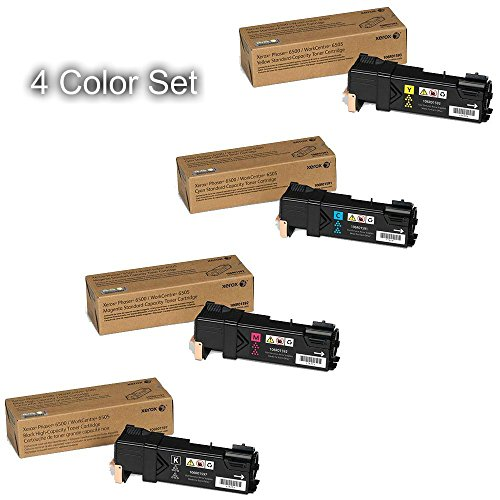 Xerox High Yield Black and Standard Yield Color Toner Cartridge Set for Phaser 6500, WorkCentre 6505