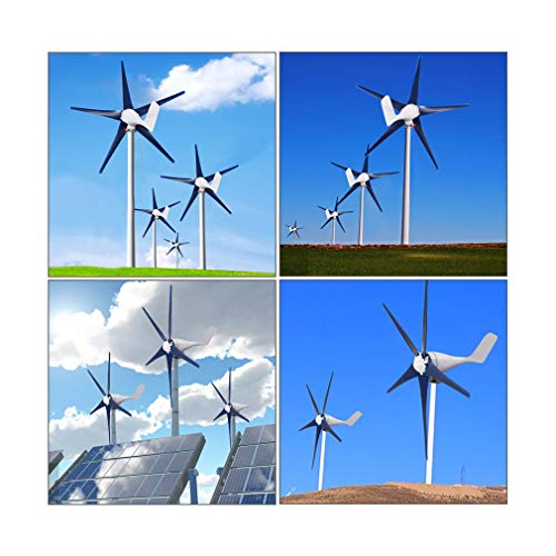 partysu [US Stock] Wind Turbine Generator,1500W 5 Blades Wind Turbines Generator Horizontal 12V Energy Turbines Charge