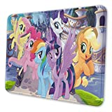 Anime My Rainbow Pony Mouse Pad Mouse Mat with Stitched Edge Non-Slip Rubber Base Large Mouse Pads for Laptops Computers and PCs 12 X 10 X 0.12 Inches