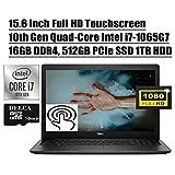 Dell Inspiron 15 3000 3593 2020 Newest Business Laptop I 15.6' FHD Touchscreen I 10th Gen Intel 4-Core i7-1065G7 I 16GB DDR4 512GB PCIe SSD 1TB HDD I MaxxAudio WiFi Win 10 + Delca 16GB Micro SD Card