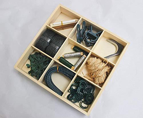 garden mile Gardeners Accessory Kit Wooden Gardening Storage Box Plant Ties Hooks Binding Holders...