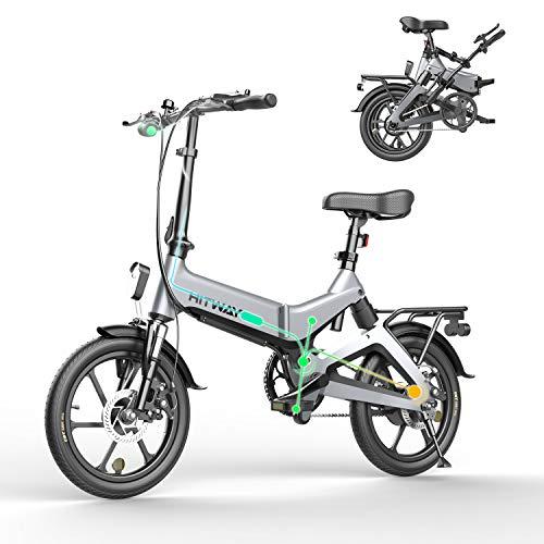 HITWAY Elektrofahrrad Klapprad Ebike Elektrofahrräder Klappräder Faltrad 250W elektrisches Fahrrad E-Bike mit 7,5 Ah Batterie, 16 Zoll, für Jugendliche und Erwachsene