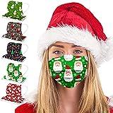 50 Stuck Weihnachten Einweg-mundschutz mit Motiv,3-lagig Atmungsaktiv Mund und Nasenschutz Erwachsene,Staubdicht Winddicht Halstuch Schals