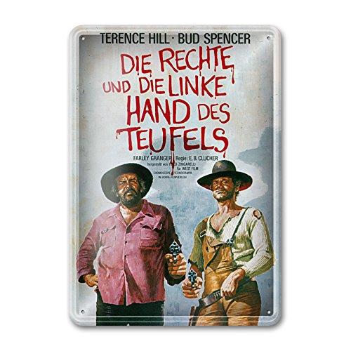 Bud Spencer® - Filmplakat/Die rechte und die Linke Hand des Teufels - Blechschild (30X23cm)
