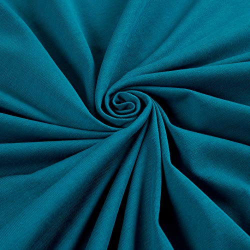 Telio Organic Cotton Stretch Jersey Knit Teal, Fabric by the Yard