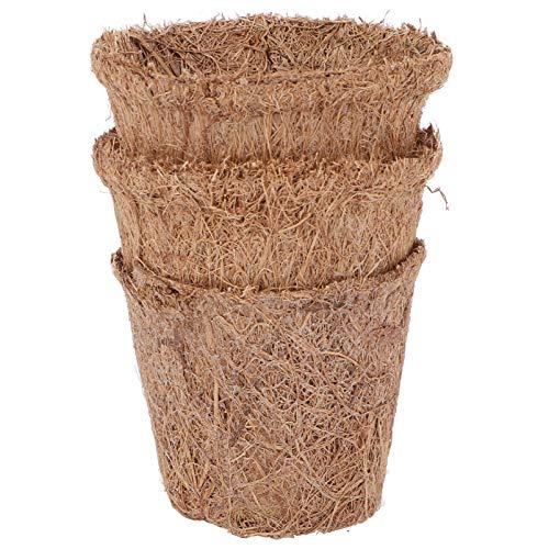 Holibanna 10 Unidades de Taza de Jardín para Niños Maceta para Plantar Semillas de Coco Maceta para Germinar Plantas Maceta para Plantar Verduras Maceta para Flores 6. 5X5. 5Cm