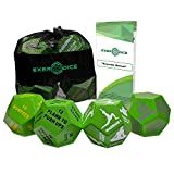 4-Pack Exercise Dice Bundle with Fitness Manual & Bag | Perfect for HIIT, Cardio, Yoga, Stretching, Strength Training, Sports, Crossfit, Plyometrics, Body Weight Workout, All Ages.