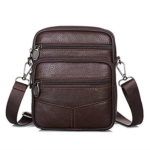 Bolsos Crossbody de los hombres,Bolsas de hombro multifunción, Bolsas de cuero compuesto para hombres, Bolsas de cuero compuestas pequeñas bolsas