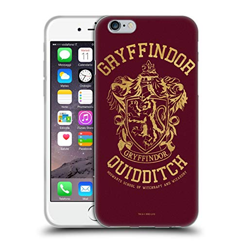 Head Case Designs Ufficiale Harry Potter Gryffindor Quidditch Deathly Hallows X Cover in Morbido Gel Compatibile con Apple iPhone 6 / iPhone 6s