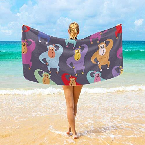 ASS Toallas de baño Paños de Lavado para el hogar, Hotel, SPA, Sauna de Playa - Toallas Gorilla Red Purple, Toallas de baño y Ducha Absorbente Suave Sábanas de baño Extra Grandes 32X52 Pulgadas