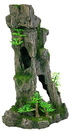 TRIXIE 8857Acuario Decoración Rock Formation con Cuevas/Plantas Vertical 28cm