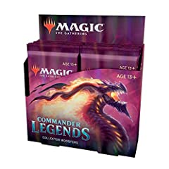 12 COLLECTOR BOOSTERS. Collector Boosters are a shortcut to the coolest cards in Commander Legends—fill your deck with rares, foils, and special art from the first booster packs created specifically for Commander. 24+ FOIL ETCHED CARDS. Commander Leg...