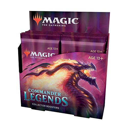 Magic: The Gathering Commander Legends Collector Booster Box | 12 Booster Packs (180 Cards) | 60 Legends | 156 Foils | Min. 24 Extended-Art Cards (C78600000)