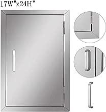 Seeutek Outdoor Kitchen Doors 17W x 24H Inch BBQ Access Door BBQ Island - Stainless Steel Single Wall Construction Vertical Door for Outdoor Kitchen Grilling Station or Commercial