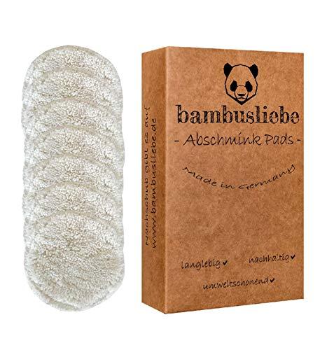 bambusliebe - Wiederverwendbare Abschminkpads inkl. Waschsack - 7 Pads, für jeden Wochentag - Waschbar, nachhaltig, langlebig, umweltschonend - Made in Germany - Zero Waste