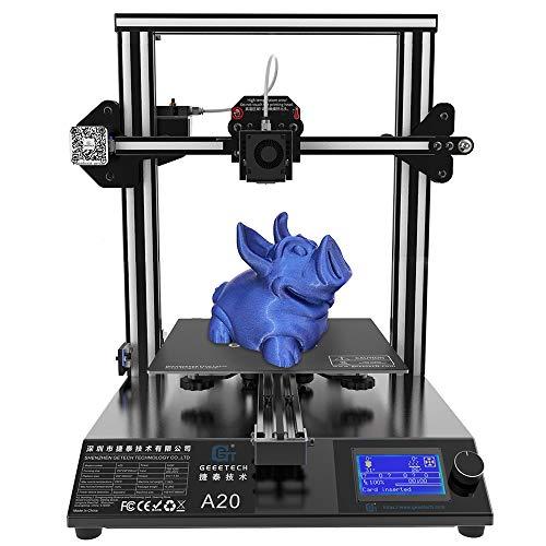 GEEETECH A20 stampante 3D con base di edificio integrata, rilevatore di filamenti e funzione di riattivazione, volume di stampa 255 × 255 × 255 mm³