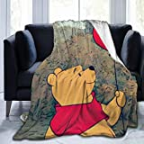 FASHIONDIY Winnie The Pooh Blanket Oversized Warm Adult Super Soft Blanket With Soft Anti-pilling Flannel For Adults & Kids 3D Print 50'x40'