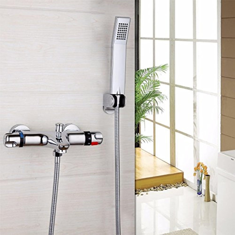 Luxurious shower Bad Armatur chrom poliert einzigen Inhaber Dual Control Dusche Set Wasserfall Regen Bad Armatur Mischbatterie