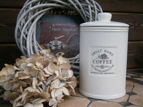 DRULINE Vintage Landhaus Küche Deko Dose Kaffeedose Vorratsdose Antik Shabby Chic-Stil
