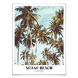 Poster Miami Beach - Florida Wanddeko Wandbild Palmen