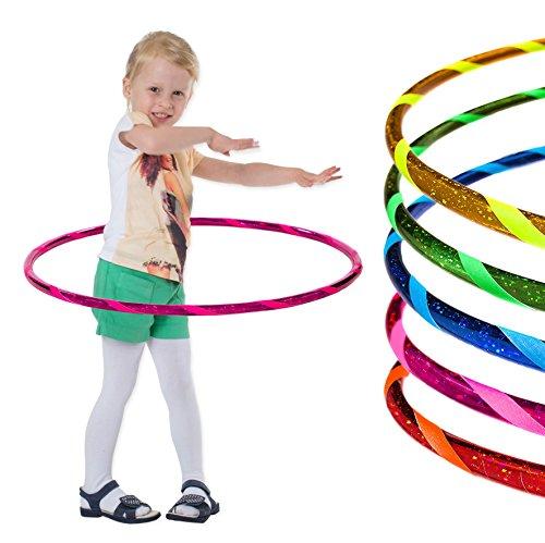 hoopomania Super Star Hula Hoop Reifen, Infantil, Estrella-Rosa, Ø60cm