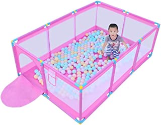 LXJJGF Baby fence  children s play fence indoor baby crawling mat toddler fence home ball pool toy child shatter-resistant fence  send 200 marine balls
