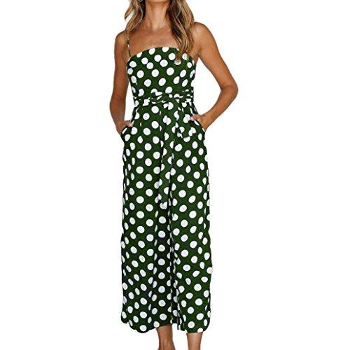 Vovotrade Tops Dames Jumpsuit Dot Printed Elegant broekpak zomer strand mouwloze jumpsuit neckholder bandage dunne jumpsuit dames party avondkleding playuit rompers lange broek