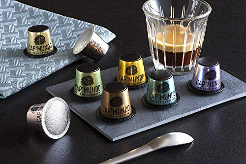 Cap'Mundo Paris Espresso Capsules Variety Pack, 50 Single Cup Coffee Pods Compatible with Nespresso Original Machines, Specialty Grade and Artisan Slow-Roasted in France