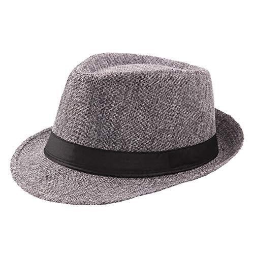 Sombreros De Paja Gorra De Mujer Sombrero De Sol Retro para Hombre Sombreros Fedoras Jazz Sombrero A Cuadros Sombreros De Bombín Visera Clásica Sombrero De Sol Chapeau