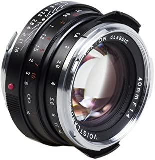 Voigtlander Nokton 40mm f/1.4 Wide Angle Leica M Mount Fixed Lens - Black [並行輸入品]