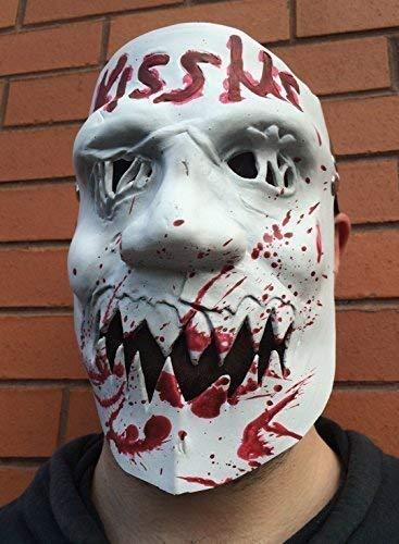 Le caoutchouc plantation TM 619219304146 Kiss Me Masque en latex Halloween Fancy Dress The purge 3 Élection AN Costume, adulte, taille unique