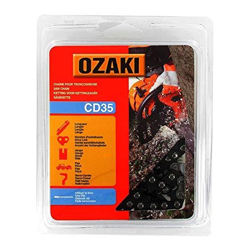 Ozaki - Cadena de motosierra, semicuadrada, bajo casco: 3/8LP – .043 (1,1 mm) – 35 entrenadores – Longitud: 30 cm