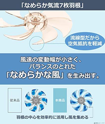 パナソニック扇風機なめらか気流7枚羽根リモコン付ベージュF-CS324-C