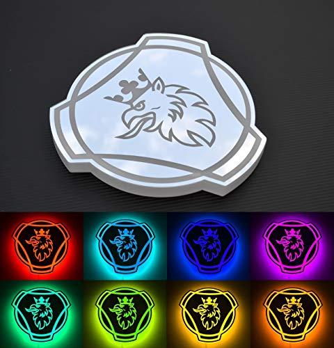 Placa LED RGB de 24 V para camioneros Scania 20 colores estáticos