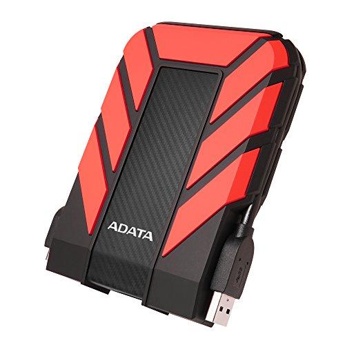ADATA HD710 Pro - 2 TB, externe Festplatte mit USB 3.2 Gen.1, IP68-Schutzklasse, rot, langlebig, wasserdicht & staubdicht mit militärischer Zähigkeit in mehrschichtigen Festplatten