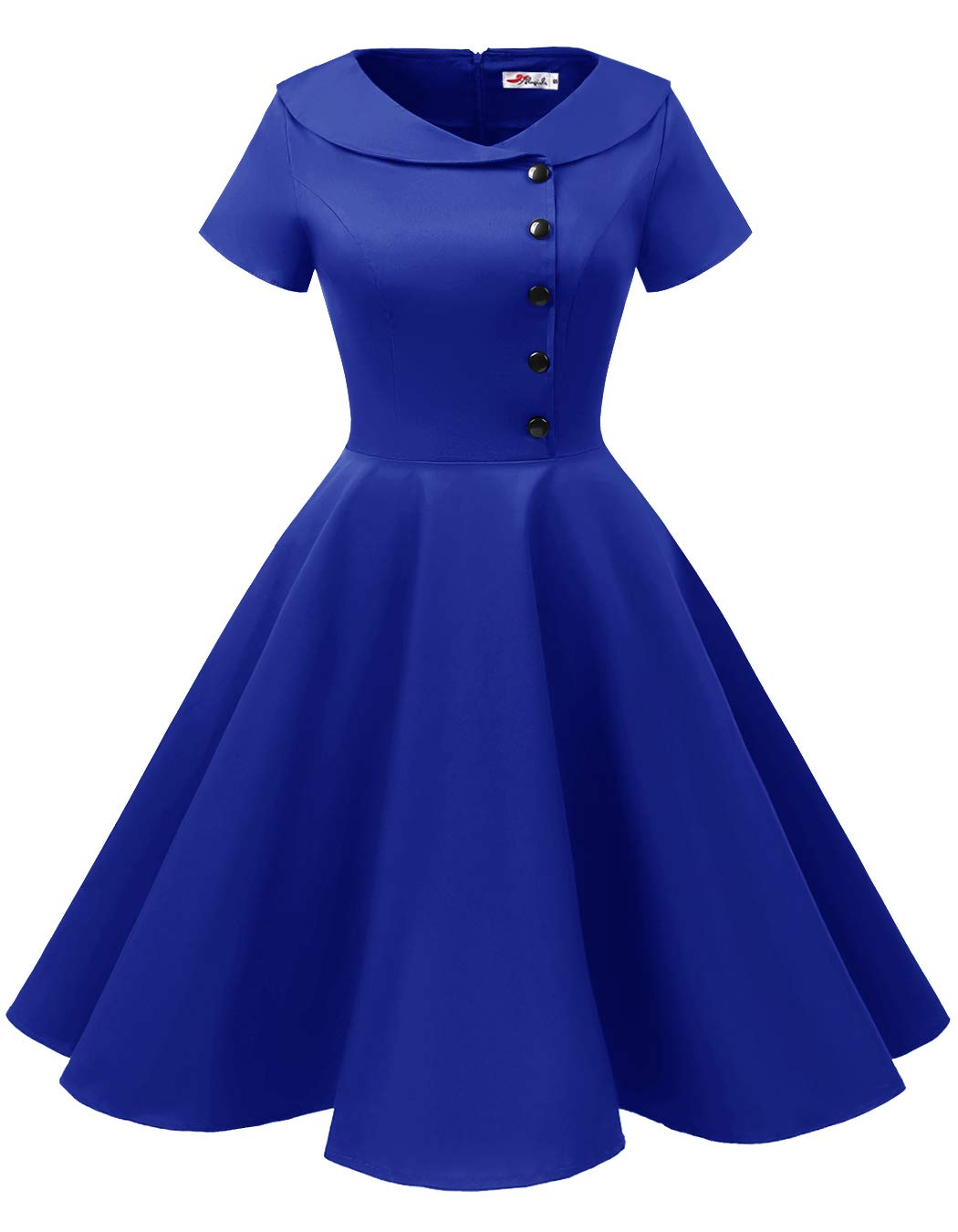 Available at Amazon: ALAGIRLS Women's 1950s Retro Rockabilly Swing Knee Length Dress Vintage Short Sleeves