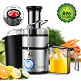 "KOIOS Centrifugal Juicer Machines, Juice Extractor with Big Mouth 3"" Feed Chute, 304..."
